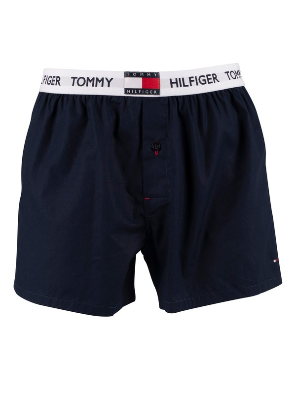 Tommy Hilfiger Woven Boxers - Navy Blazer