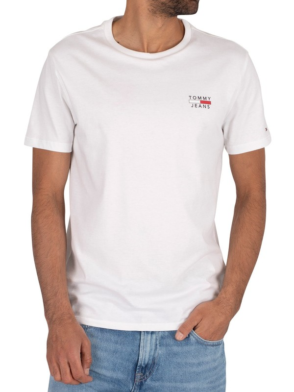 Tommy Jeans Chest Logo T-Shirt - Classic White