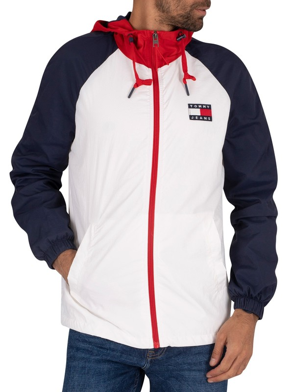 Tommy Jeans Colourblock Zip Jacket - White
