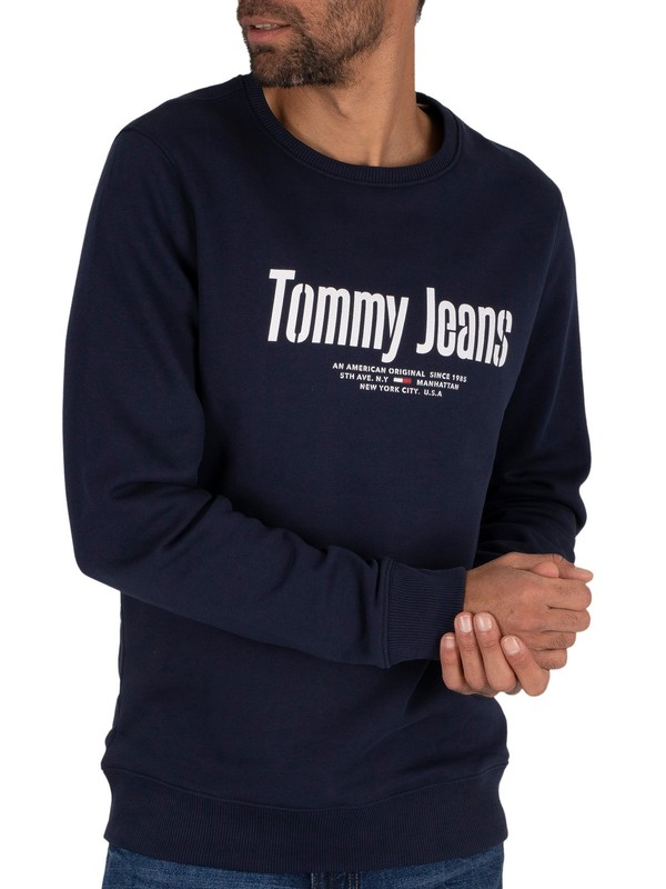 Tommy Jeans Essential Graphic Sweatshirt - Twilight Navy
