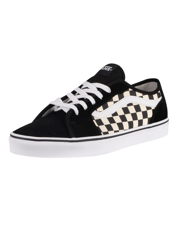 Vans Filmore Decon Checkerboard Canvas Trainers - Black/White