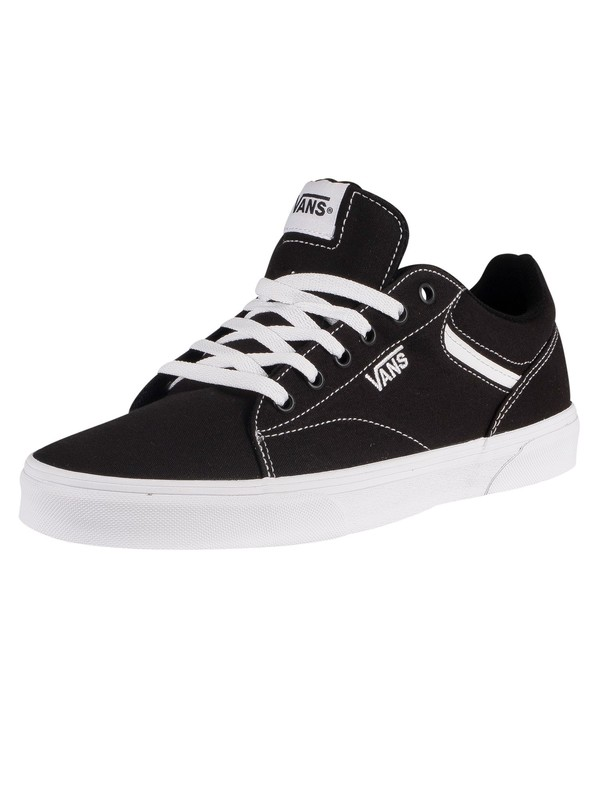 Vans Seldan Canvas Trainers - Black/White