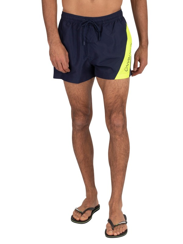 Calvin Klein Short Drawstring Swim Shorts - Black Iris Navy