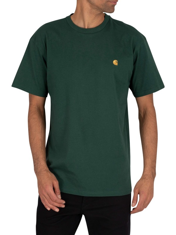 Carhartt WIP Chase T-Shirt - Treehouse/Gold