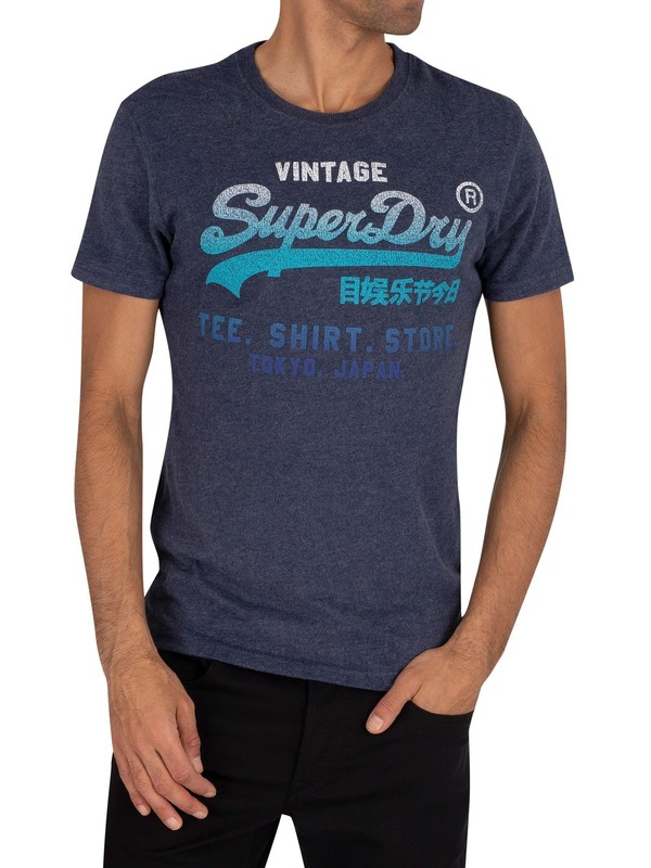 Superdry Fade Store T-Shirt - Princedom Blue Marl