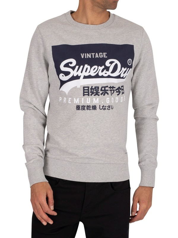 Superdry Graphic Sweatshirt - Grey Marl