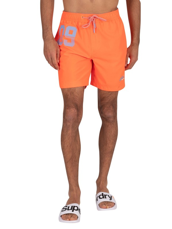 Superdry Waterpolo Swim Shorts - Havana Orange