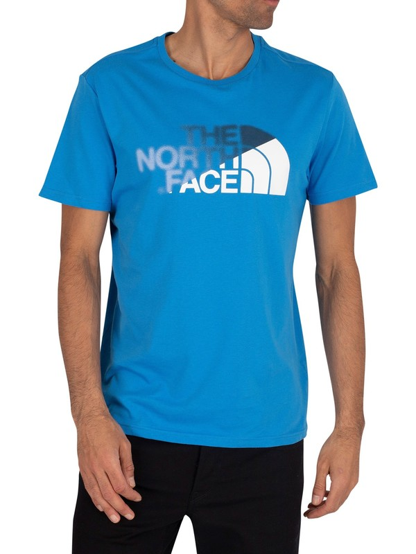 The North Face Graphic T-Shirt - Clear Lake Blue/White