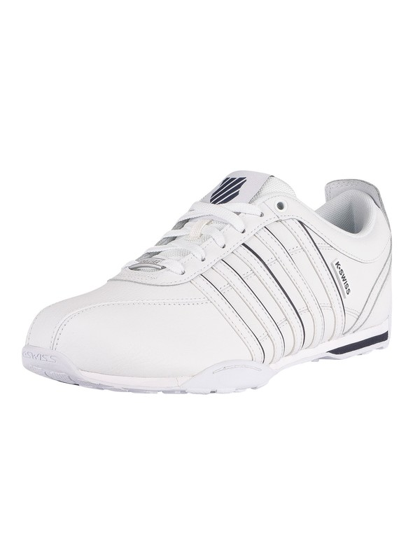 K-Swiss Arvee 1.5 Leather Trainers - White/Navy/Silver