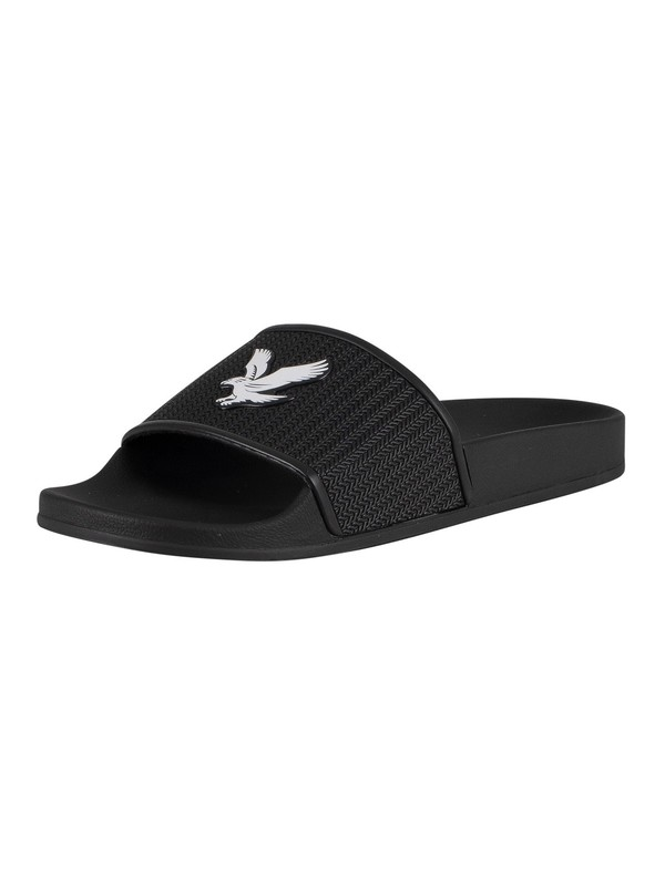 Lyle & Scott Eddie Sliders - True Black/White