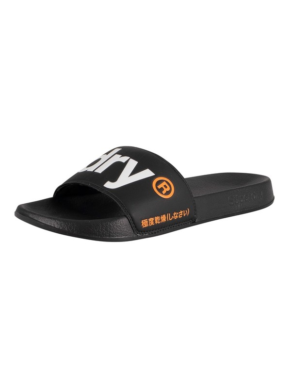 Superdry Classic Pool Sliders - Black
