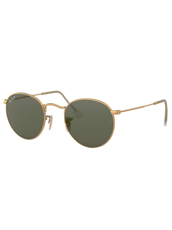 Ray-Ban RB3447 Round Flat Sunglasses - Green Classic