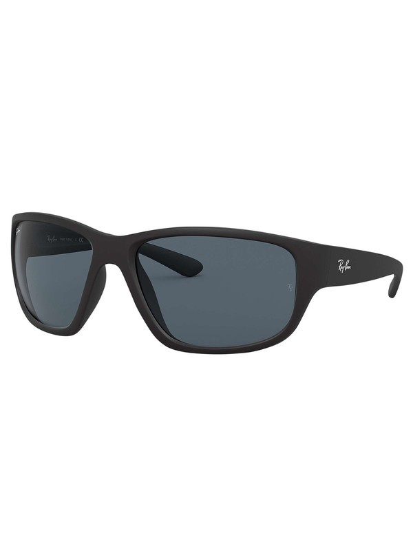 Ray-Ban RB4300 Wrap-Around Sunglasses - Black