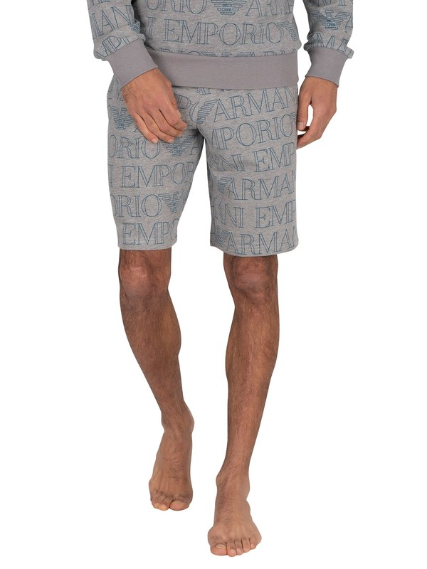 Emporio Armani Lounge Bermuda Sweat Shorts - Grey Melange