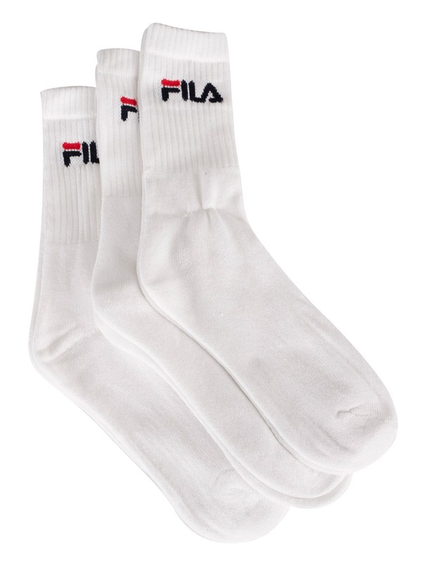 Fila 3 Pack Tennis Socks - White