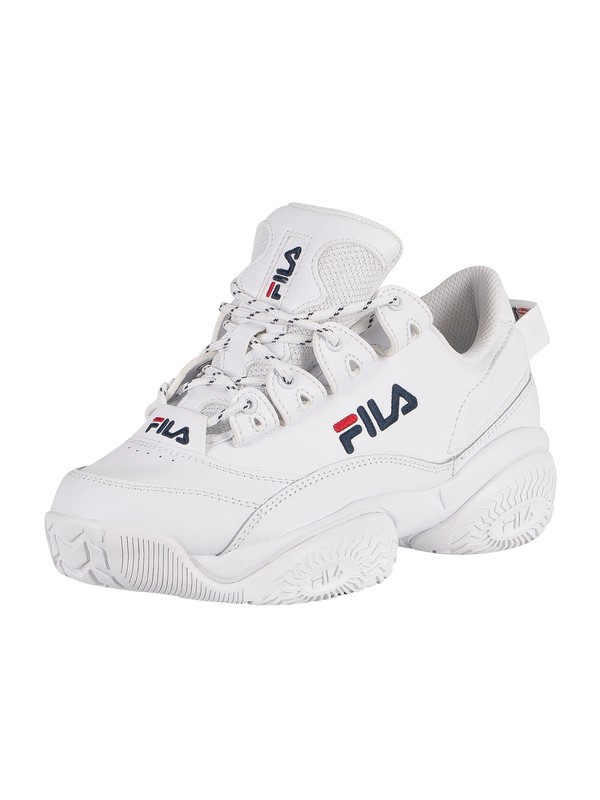 Fila Provenance Leather Trainers - White/Navy/Red