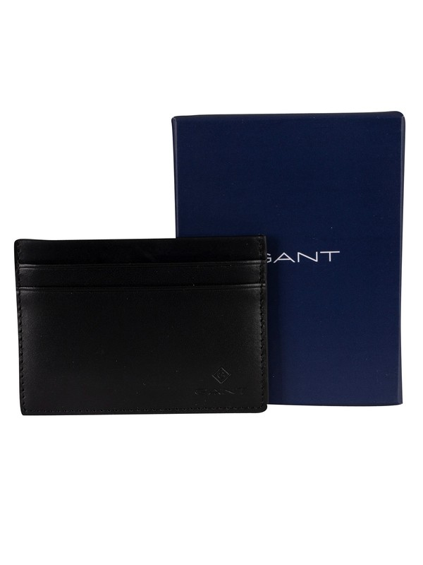 Gant Leather Card Holder Wallet - Black
