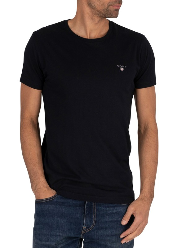 Gant Original Slim T-Shirt - Black