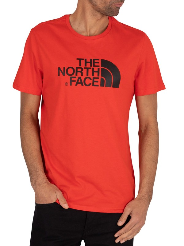 The North Face Easy T-Shirt - Fiery Red/Black