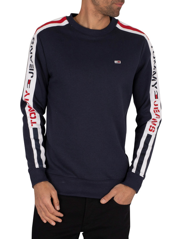 Tommy Jeans Branded Tape Sweatshirt - Twilight Navy