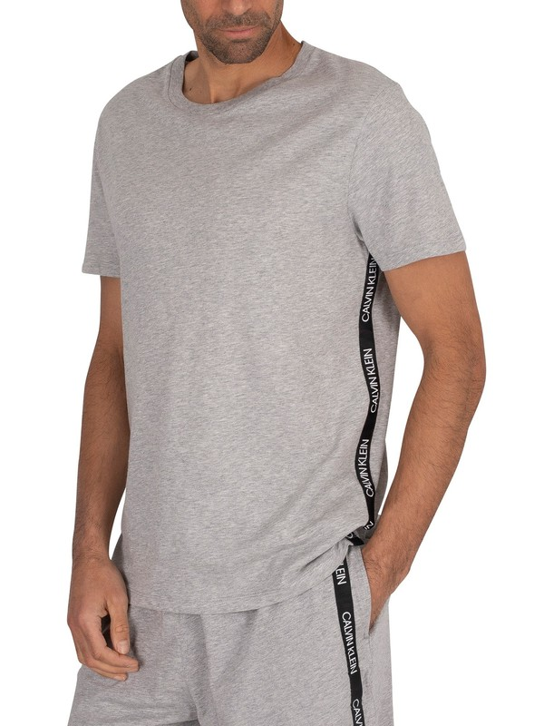 Calvin Klein Tape Crew T-Shirt - Grey Heather