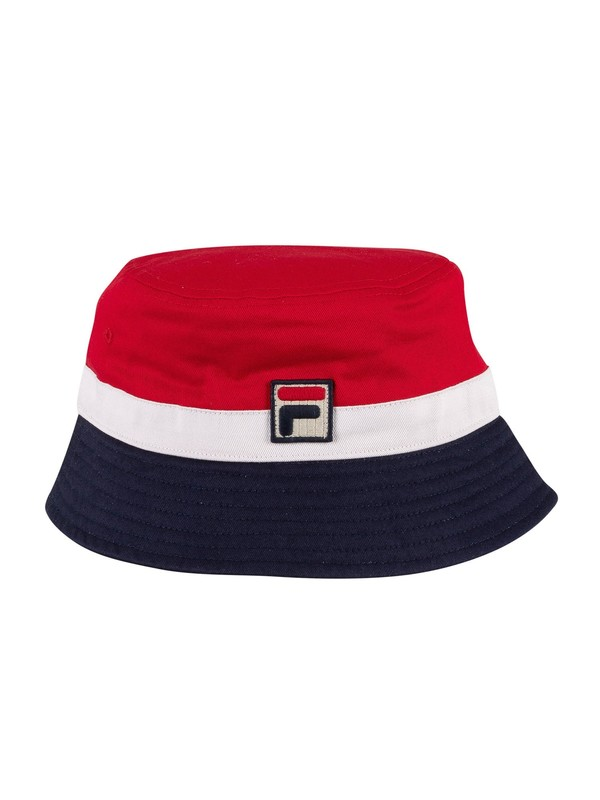 Fila Basil Bucket Hat - Red/White/Peacoat