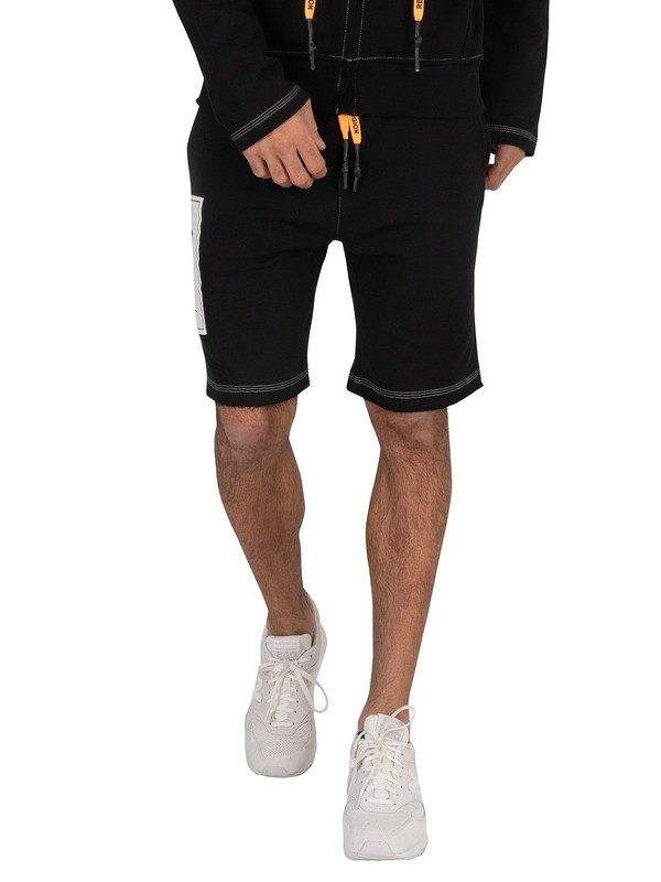 Religion Mono Sweat Shorts - Black/White
