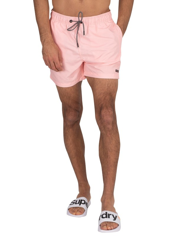 Superdry Packable Edit Swim Shorts - Grey Pink