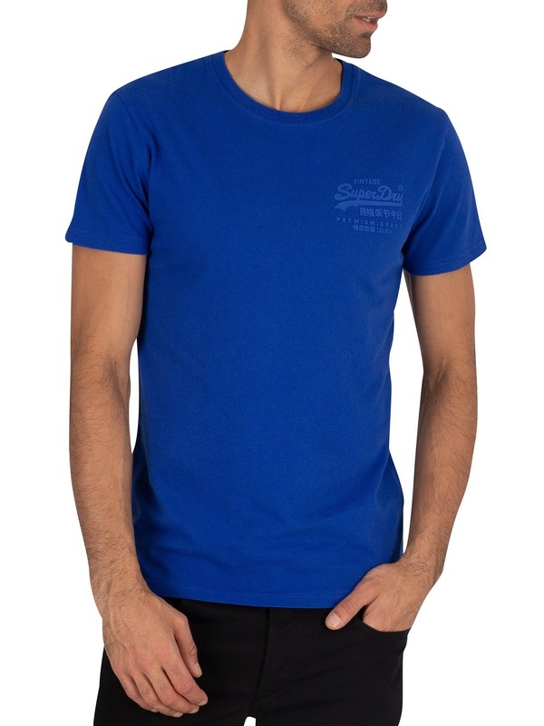 Superdry Premium Goods Tonal Injection T-Shirt - Vivid Cobalt