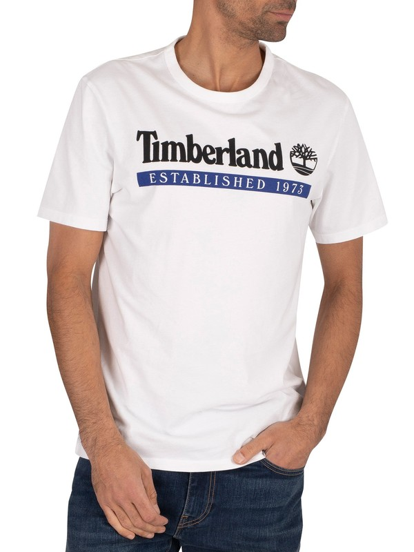 Timberland Established 1973 T-Shirt - White/Surf Web