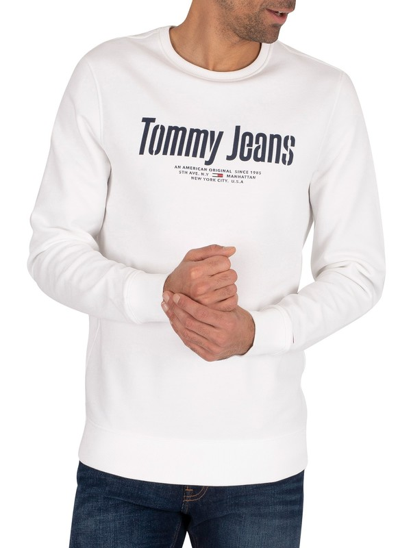Tommy Jeans Essential Graphic Sweatshirt - White