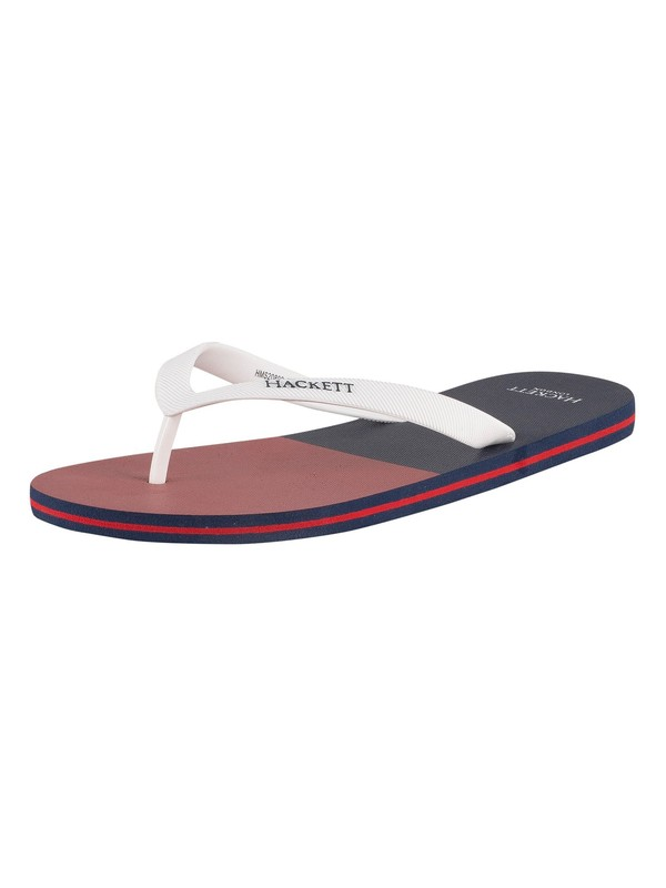 Hackett London Split Flip Flops - Navy/Red