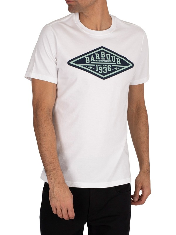 Barbour International Compressor T-Shirt - White