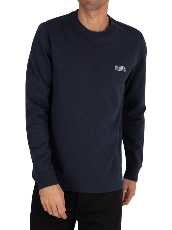 Barbour International Decal Longsleeved T-Shirt - Navy