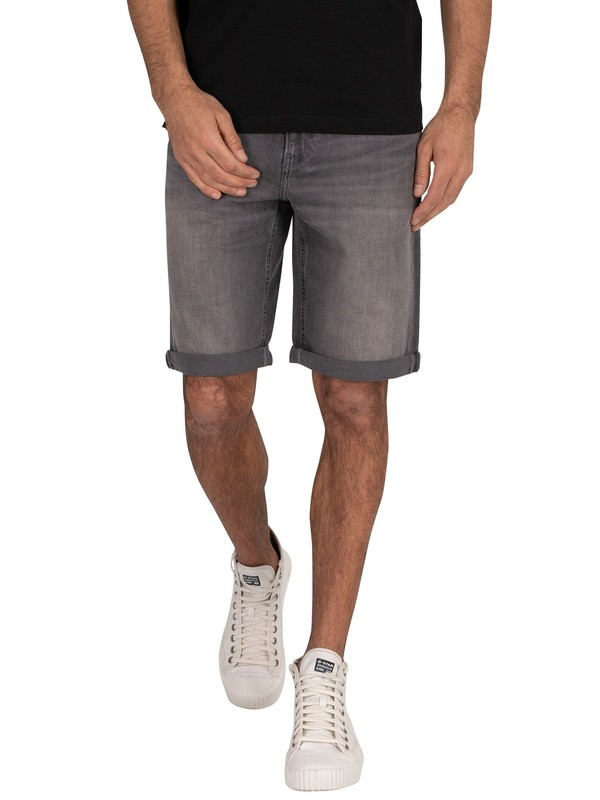 Calvin Klein Jeans Slim Denim Shorts - Light Grey