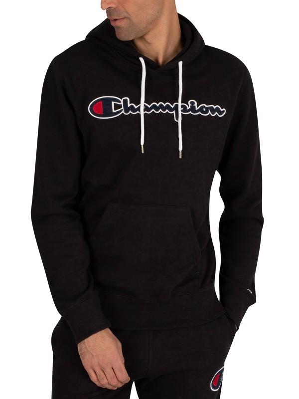 Champion Graphic Pullover Hoodie - Black