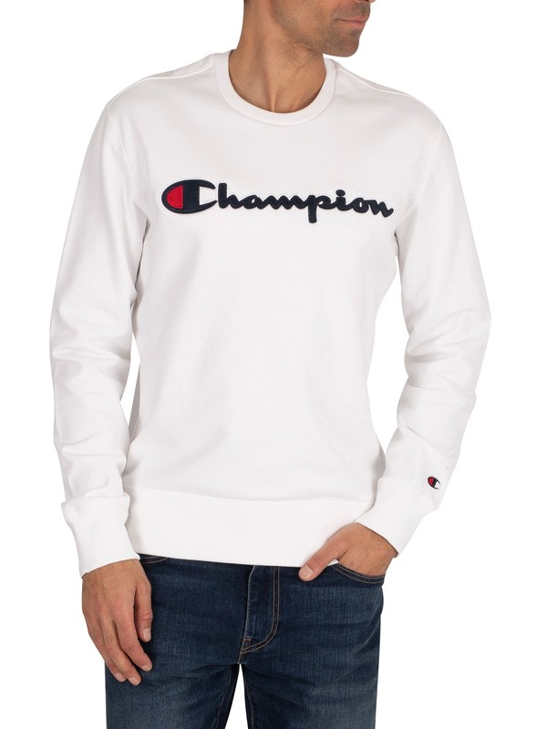 Champion Graphic Sweatshirt - White