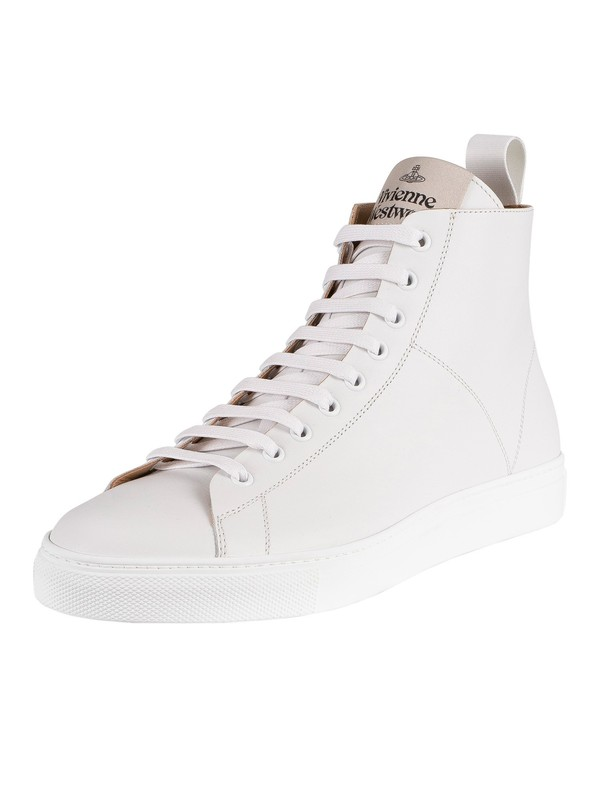 Vivienne Westwood High Top Leather Trainers - White