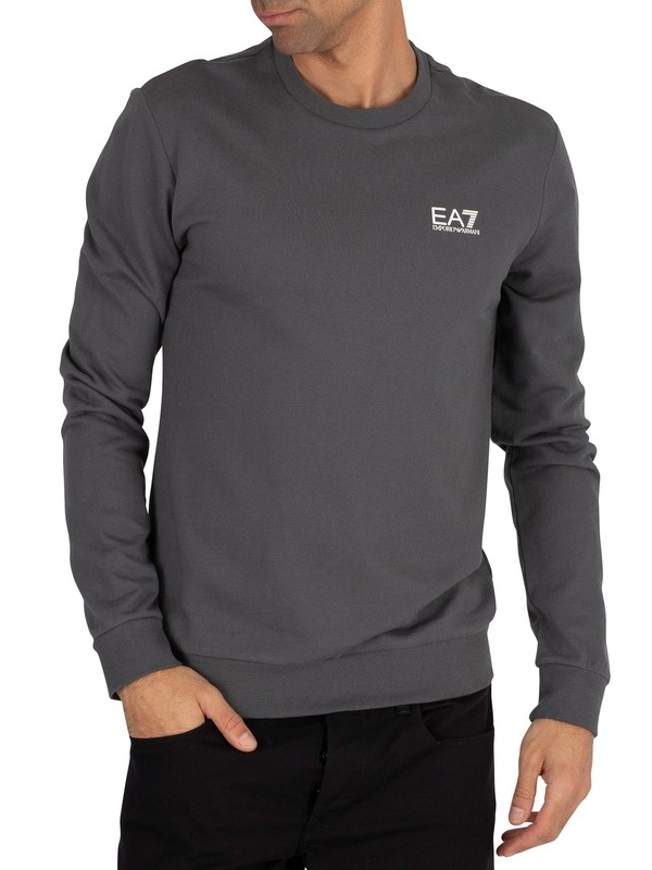 EA7 Chest Logo Sweatshirt - Iron Gate
