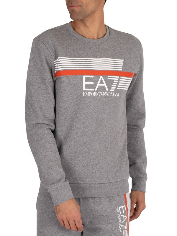 EA7 Graphic Sweatshirt - Medium Grey Marl