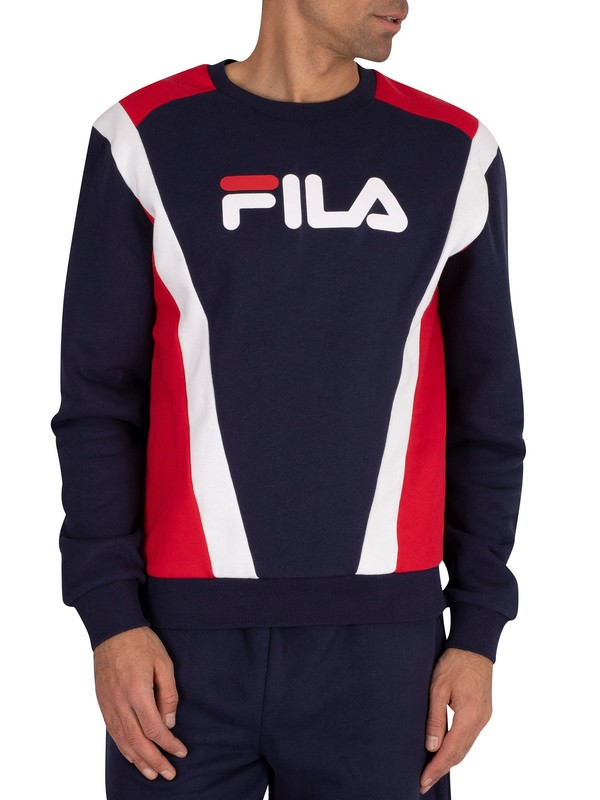 Fila Juda Cut Sew Sweatshirt - Peacoat/Red/White