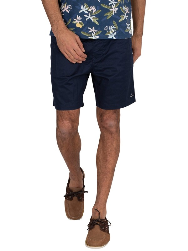 GANT Relaxed Fit Chino Shorts - Marine