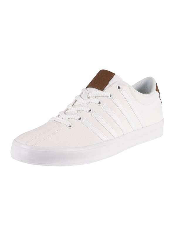 K-Swiss Court Pro II Canvas Trainers - White/Bison/White