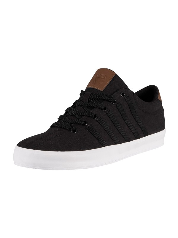 K-Swiss Court Pro II Canvas Trainers - Black/Bison/White