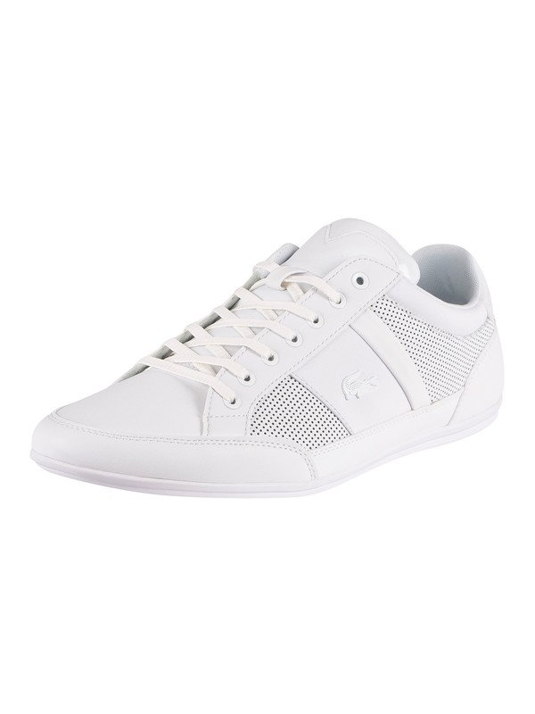 Lacoste Chaymon 120 3 CMA Leather Trainers - White/White