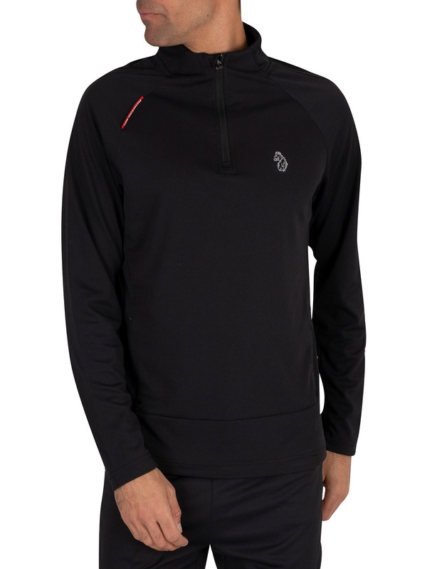 Luke 1977 Indicator 1/4 Zip Track Jacket - Jet Black