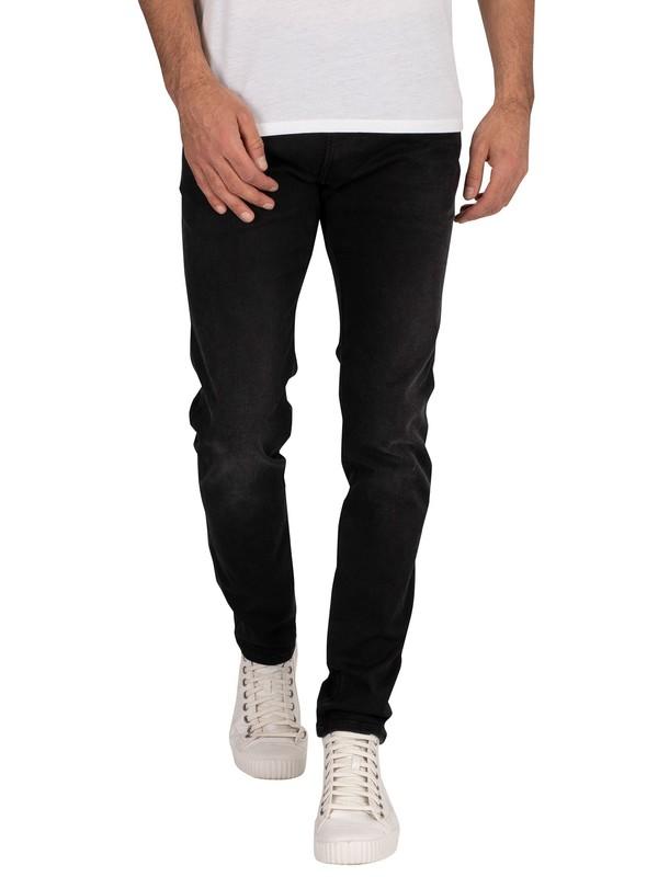 replay black hyperflex jeans