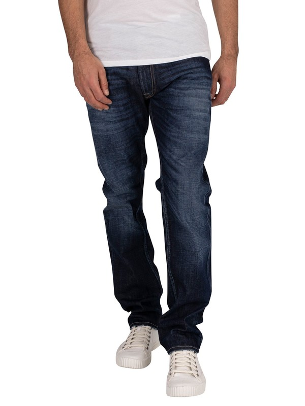 Replay Rocco Comfort Stretch Denim Jeans - Deep Blue Indigo