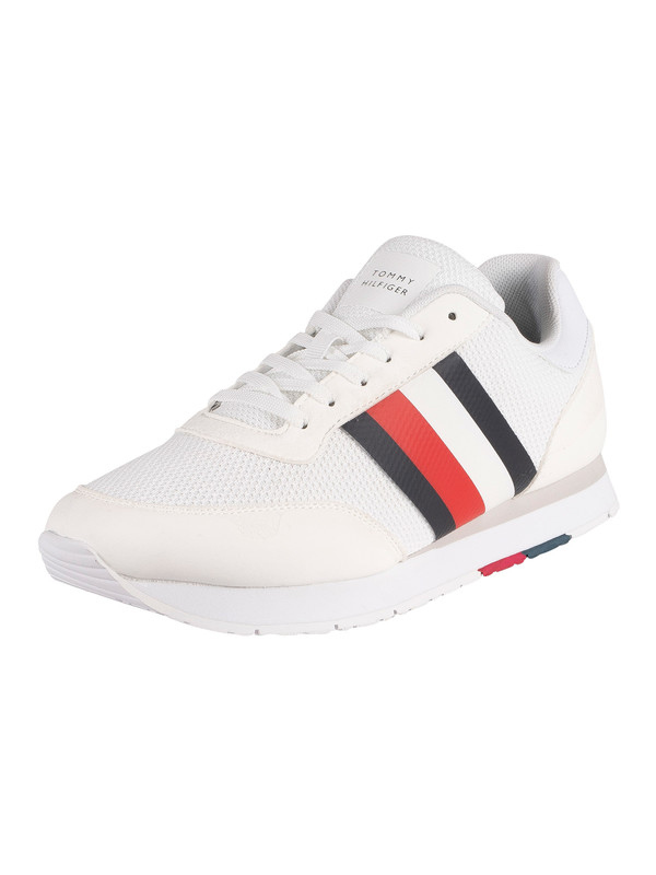Tommy Hilfiger Corporate Material Mix Runner Trainers - White