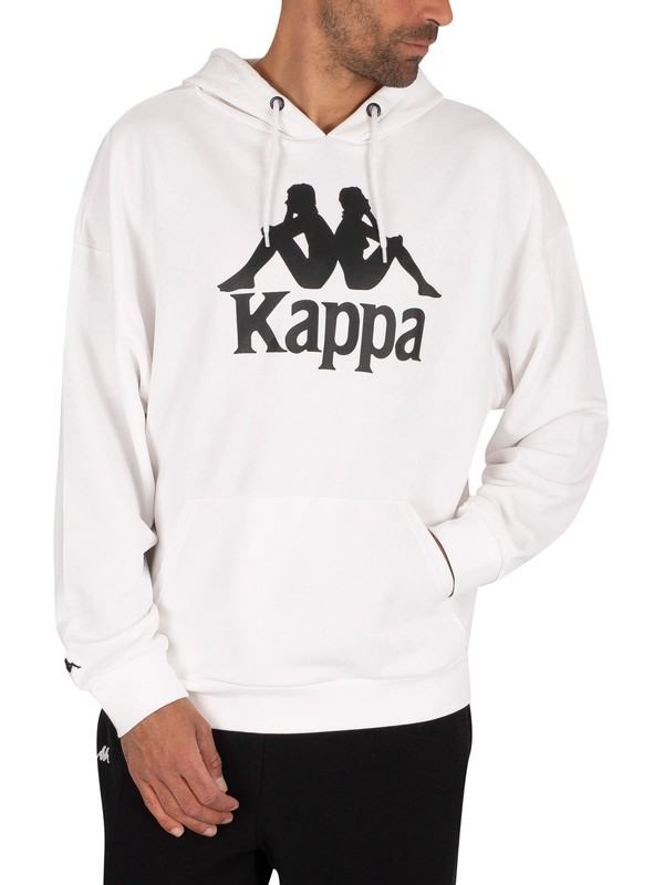 Kappa Authentic Tenax Pullover Hoodie - White/Black